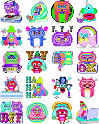 Kaleidoscope Facebook Sticker