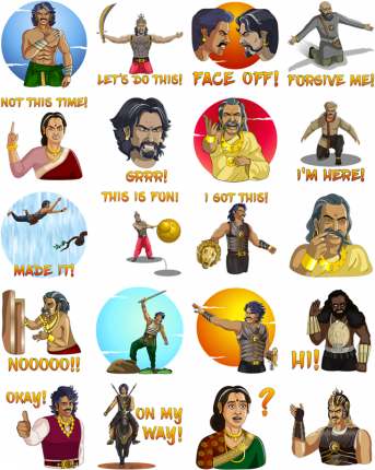 Baahubali 2 Facebook Stickers