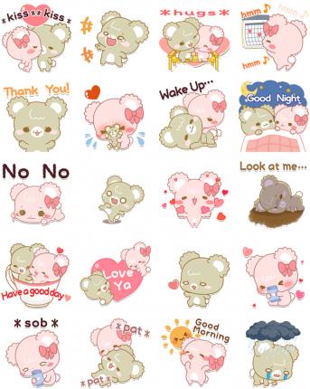 Darling Sugar Cubs Facebook Stickers