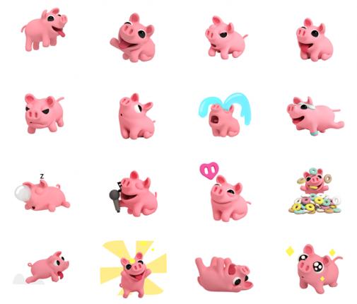 Happy Rosa Facebook Stickers