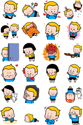 Little Brother Yam Facebook Stickers