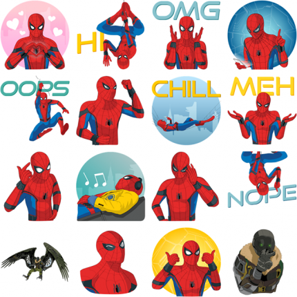 Spider-Man Homecoming Facebook Stickers