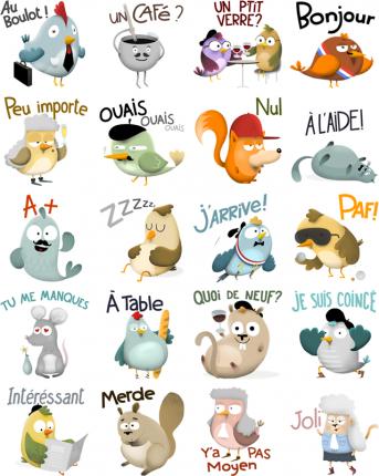Zanimaux Facebook Stickers