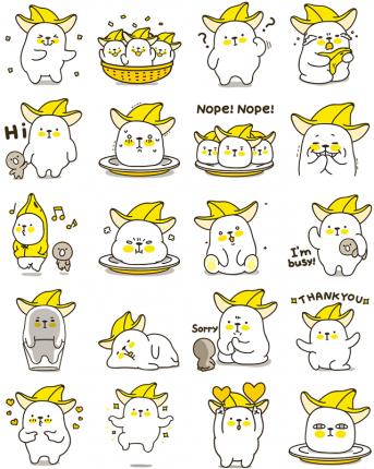 Bana & Nana Facebook Stickers