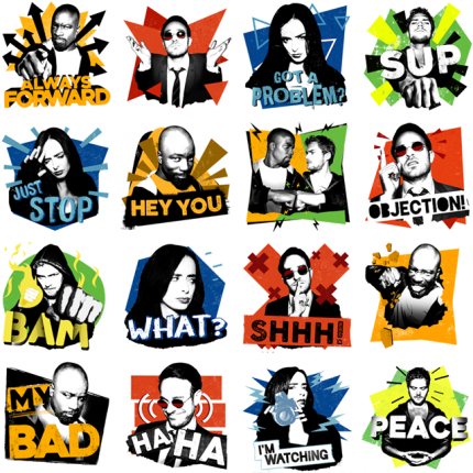 The Defenders Facebook Stickers