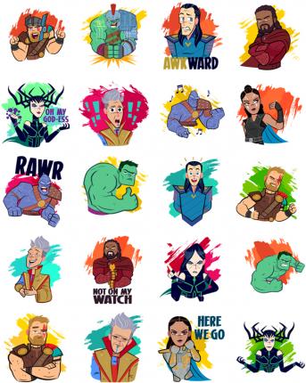 Thor Ragnarok Facebook Sticker