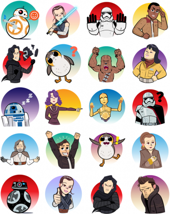 Star Wars - The Last Jedi Facebook Sticker