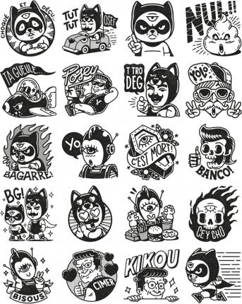 Superzeroes facebook stickers