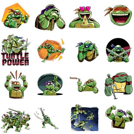 Teenage Mutant Ninja Turtles Facebook Stickers