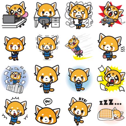 Aggretsuko Facebook Sticker