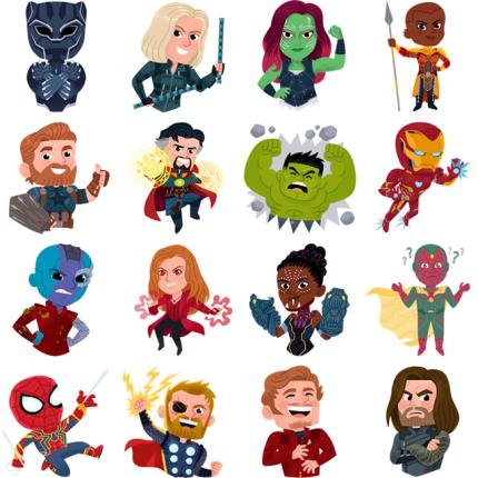 Avengers- Infinity War Facebook Stickers