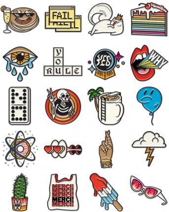 Pinned Facebook Sticker