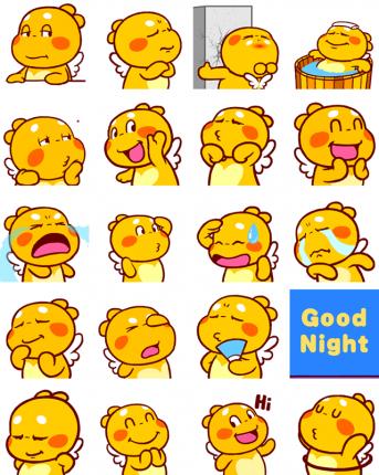 QooBee Agapi Facebook Sticker