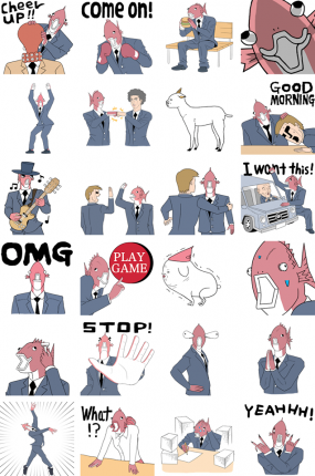 Everyday Business Fish Facebook Stickers