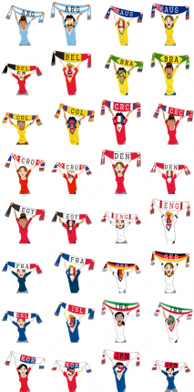 Football Scarves 2018 (A-M) Facebook Stickers
