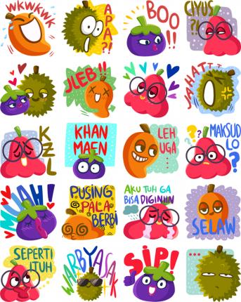 Fresh Fruit Facebook Stickers