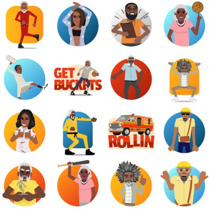 Uncle Drew Facebook Stickers