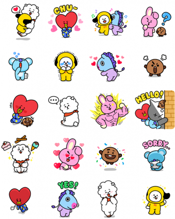 BT21 Absolute Charm Facebook Stickers