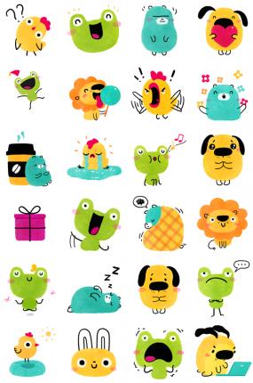 Doodlings Facebook Stickers