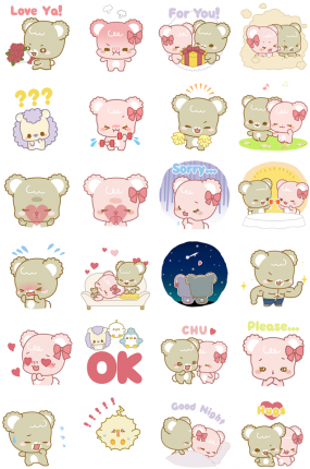 Lovely Sugar Cubs Facebook Stickers