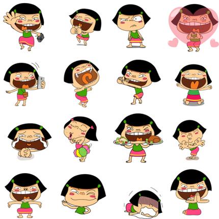 Noo-Hin Dance Facebook Stickers
