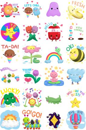 Friends Everywhere Facebook Messenger Stickers