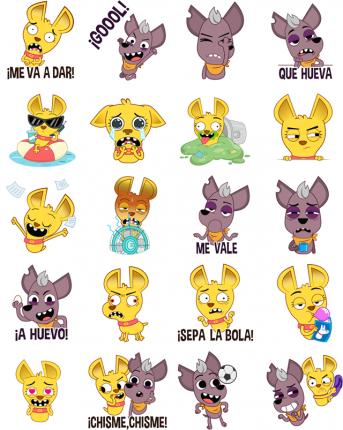 Perritos Facebook Messenger Stickers