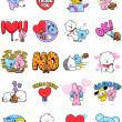 BT21 Love & Peace Facebook Stickers