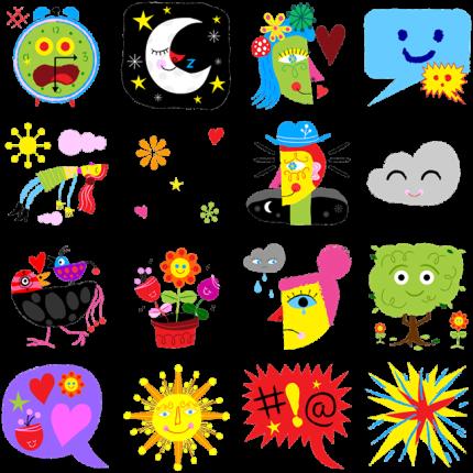 Sunny Facebook Sticker