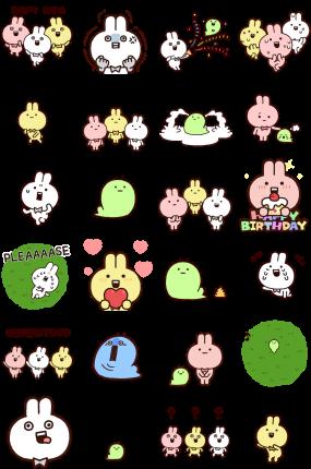 Annoying Rabbits Facebook Sticker