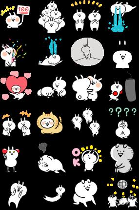 Hyper Usagyuuun Facebook Stickers