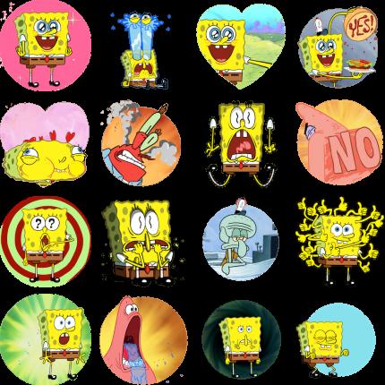 FUN with SpongeBob Facebook Stickers