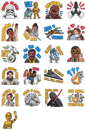 Star Wars The Rise of Skywalker Facebook Stickers