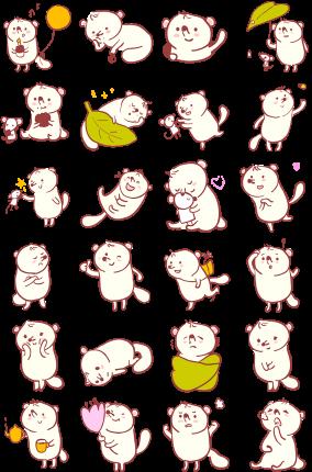 Zizi and Pog Facebook Stickers