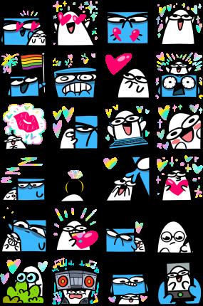 Love Me Tender Facebook Stickers