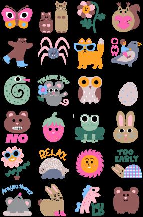 Scandinavian Spring Facebook Stickers