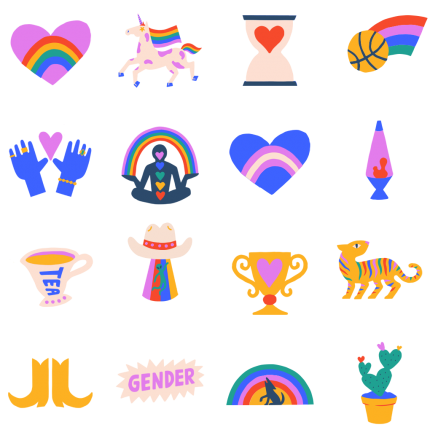 Stay Proud Facebook Stickers