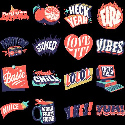 A Few Moods Facebook Stickers