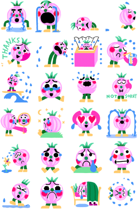 Lets cry Facebook Stickers