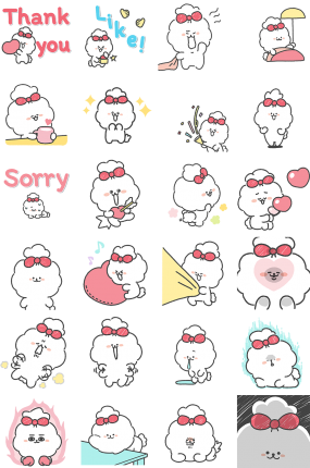 Fluffy puppy Facebook Stickers