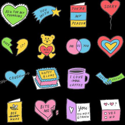 Hi I Love You Bye Facebook Sticker