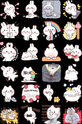 Mimi and Neko Facebook Sticker