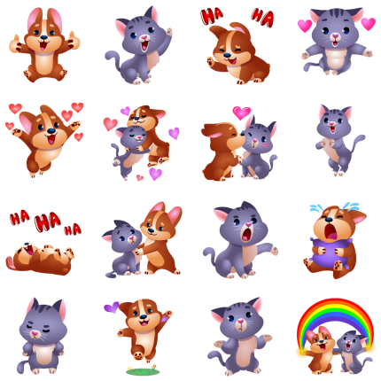 Taters n Tots Facebook Stickers