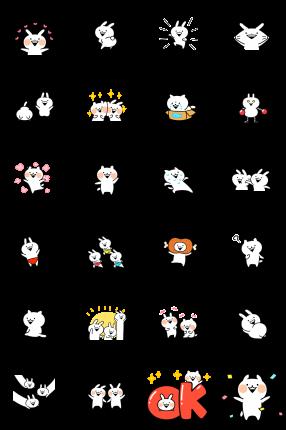 Usagyuuun and Nekogyuuun Facebook Stickers