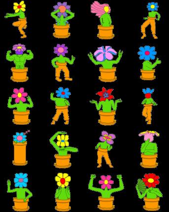 Wild flowers Facebook Stickers